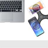 Qi Wireless Cargador de soporte de teléfono móvil en blanco y negro nuevo pad de carga inalámbrica para el iPhone 8 y iPhone x