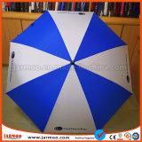 Ombrello antivento blu e bianco di golf di modo