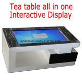 Publicidade interior livre de pé a exibição de vídeo mesa de café Kiosk