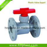 Válvula de plástico/ PVC PP PVDF PPH CPVC europeia a válvula de esfera (ANSI DIN JIS)