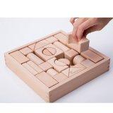 Giocattoli prescolari di legno naturali della casella dei blocchetti dei bambini