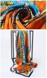 2018新しいデザインデジタル印刷の正方形のScarf絹のサテンの女性