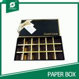 Verpakkende Vakje van de Chocolade van het Karton van het Document van de douane het Met de hand gemaakte