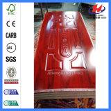 Peau de porte de mélamine d'aulne de l'artisan 3-Panel d'usine