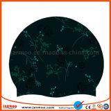 Chapéu personalizado da nadada dos tampões de natação da cor cheia
