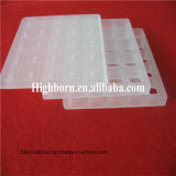 長方形の耐熱性透過粉砕の水晶ガラス板