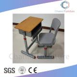 Estudiante ajustable blanca silla mesa Mobiliario Escolar (CAS-SD1821)