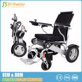 Cadeira de rodas elétrica do curso de pouco peso com liga de alumínio