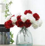 Singolo mazzo di seta del fiore del garofano variopinto artificiale per la casa, cerimonia nuziale, decorazione del partito