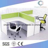 Station de travail du personnel moderne de 2 personne de la mélamine Table Office CAS-W1823