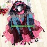 Новая геометрическая напечатано вискоза шарфом женщин шаль с Tassel моды