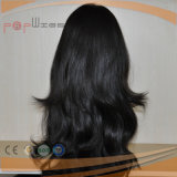 Natürliche Farben-Menschenhaar-Kopfhaut-Oberseite-Perücke (PPG-l-01036)