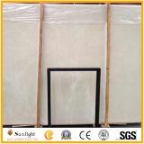 Suelo de mármol de piedra amarillento blanco natural de Aran, azulejos de mármol de la pared