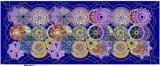 Écharpe en soie de Georgette de configurations d'impression colorée faite sur commande de Digitals pour des femmes