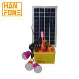 sistema eléctrico solar de la C.C. del mini Portable 9ah con el panel solar