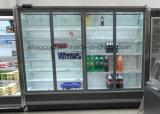 Стеклянный холодильник двери с большой зоной индикации и главной видимостью