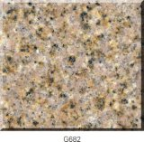 Prefab G682 Roestig Geel Graniet Worktop/Slab/Tile/Cube voor Keuken