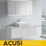 Gabinete de banheiro branco do dissipador da laca da madeira compensada da suspensão de parede único (ACS1-L72)
