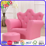Kronen-Faltenbildung-Leder-Kind-Sofa/Kind-Stuhl/Kind-Möbel (SXBB-17-02)
