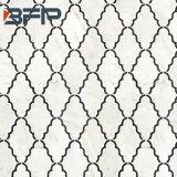 Mosaico di marmo giallo grigio beige bianco, piccole mattonelle del marmo della parte