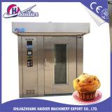 Four rotatoire électrique de traitement au four de 32 plateaux pour des biscuits, biscuit, prix usine de pain