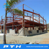 Entrepôt préfabriqué de structure métallique de coût bas de Pth avec l'installation facile