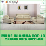 Sofà di cuoio beige di Chesterfield della mobilia moderna del salone