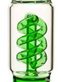 De Pijp van het Glas van de gunst met Spiraalvormig perc-Green/Blauw