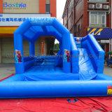 Água insufláveis Bouncer Combo de slides
