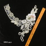 collier de lacet de fleur de POINT d'or de cru de 31*33cm beau pour Madame Dress Trimming Hme916