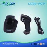 Scanner de code à barres sans fil 433 MHz avec un socle USB à base de recharge du récepteur