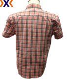 Y/D Ausdehnungs-Plaid-Popelin-Hemd für Bemannen-Tasche Abgleichung mit einzelnem Pkt