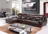 Sofà di cuoio moderno con il sofà domestico per la mobilia di cuoio del sofà