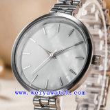 Reloj de señoras de encargo del reloj del acero inoxidable de los relojes (WY-G17001B)