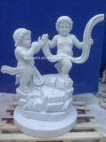 Естественное белое мраморный каменное искусствоо высекая скульптуру для украшения сада