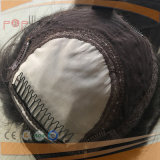 Dunkles Haar-jüdischer Silk SpitzendeckelToupee (PPG-l-00011)