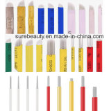 Microbladingの眉毛の入れ墨の常置構成の手動ペンの刃の斜めのMicrobadesの針