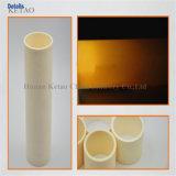 Ronde en céramique de tubes de l'alésage de l'alumine unique de 99,8 % - Ouvert aux deux extrémités