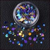 Оптовый круглый порошок яркия блеска лазера большого части для украшения искусствоа ногтя