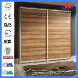 Porte en bois coulissante intérieure lisse de tissu de brame (JHK-S01)
