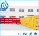 Barriere di plastica gialle da vendere i pesi riempiti acqua della barriera della strada