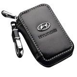B Uick Черный кожаный чехол премиум цепочки ключей автомобиля для мелких предметов на молнию дела