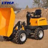 Carro de descargador de múltiples funciones del mecanismo impulsor de 1 tonelada 2*4-Wheel mini