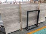 China losa de mármol blanco de madera para Azulejos Ingeniería