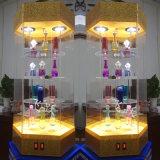 Escaparate de acrílico giratorio de la visualización con la luz del LED