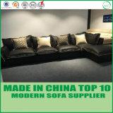 Modernes Schnittecksofa-Leder-Sofa-Bett