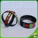 Neuer stilvoller kundenspezifischer Firmenzeichen-Silikon-GummiWristband
