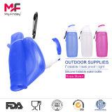 Fabrikant FDA/BPA Free/LFGB van China keurde de Opvouwbare Flexibele Opnieuw te gebruiken Fles van het Water van het Silicone goed