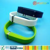 bracelet imperméable à l'eau de silicones d'IDENTIFICATION RF d'à haute fréquence du CODE SLI de 13.56MHz ISO15693 I