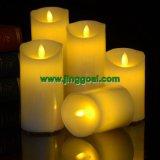 シミュレーションの明滅LEDの蝋燭
